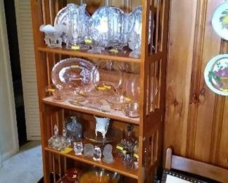 More depression glass, flow blue, crystal and MCM items