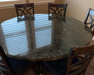 Outstanding hand crafted round dining table