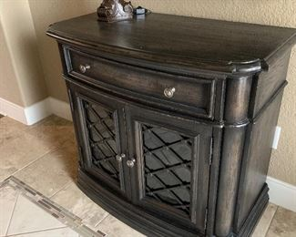 Night stand used in hallway