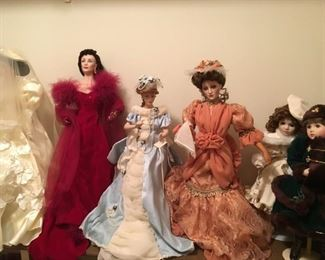 LARGE variety of Collectible Dolls