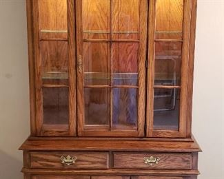 Lighted quality china cabinet