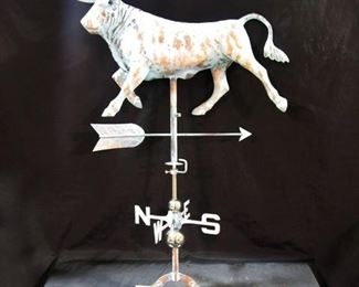 Copper bull weathervane