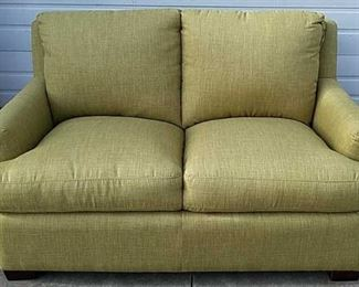 Panama Jack palm upholstered loveseat