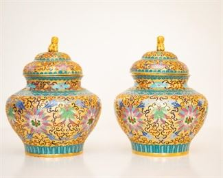 Large Cloisonné Vases