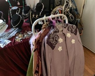 Sample of women clothing and jewelry.