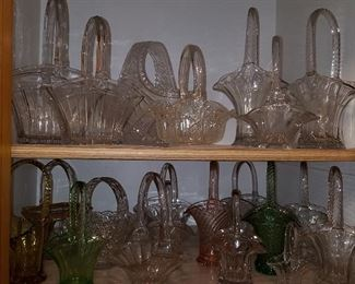 Glass baskets (Heisey are shown again here on top left shelf....just to see if you're paying attention!  ;-)