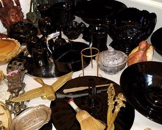 Black Amethyst glass, souvenir items, and MORE