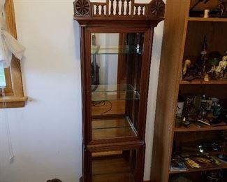 Victorian curio display cabinet. Cute!