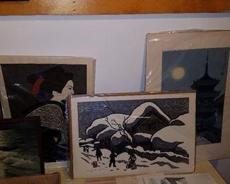 Japanese woodblock prints by Kyoshi Saito & Asada Tangyu (Benji)