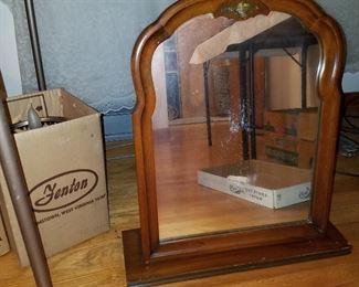Shaving mirror for top of dresser....
