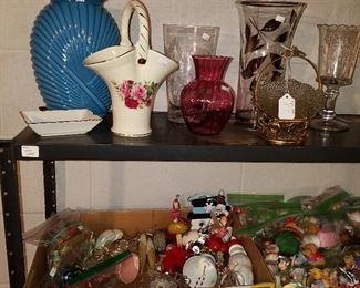 Vases (top) and Holiday decorations