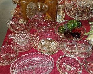 "Fostoria ""American"" pattern glass"
