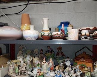 Native American tourist pottery, Half-dolls, figurines