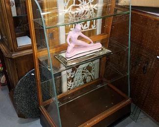 Exceptional Curved glass showcase...a gem!
