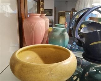 Rookwood bowl & 2 vases