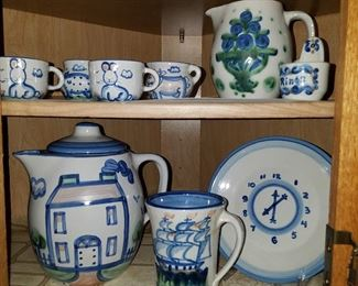 Mary Hadley, including unusual 4 piece childs set top left