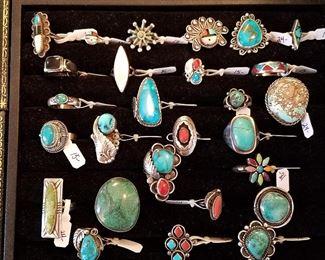 Vintage Native American Sterling rings