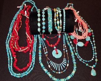 Turquoise, Coral, etc