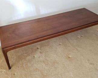 Vintage MCM lane coffee table