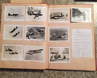 Military Scrapbook with WWII Aircraft Identification