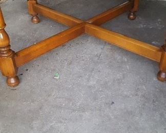 Antique European Lazy Susan Dining Table