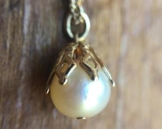 Dainty Single Pearl Necklace on 14k Chain https://ctbids.com/#!/description/share/274615