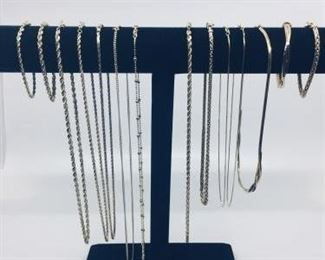 Assortment of 14k Gold Chains & Bracelets https://ctbids.com/#!/description/share/274639