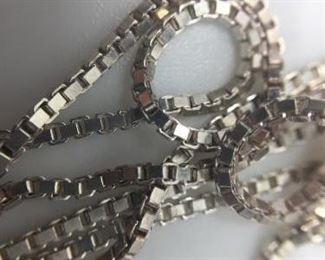 Large Assortment of Sterling Silver Chains https://ctbids.com/#!/description/share/274642