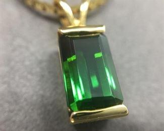 Elegant Green Tourmaline Neckpiece https://ctbids.com/#!/description/share/274648