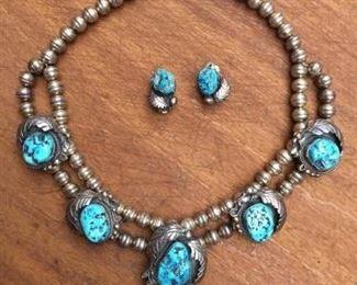 Vintage Ornate Native American Necklace & Earrings https://ctbids.com/#!/description/share/274683