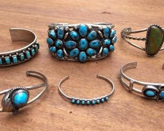 Sterling & Turquoise Ring Cuff Bracelet Collection https://ctbids.com/#!/description/share/274691