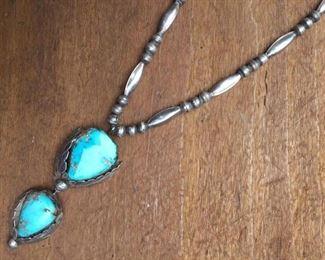 Sterling & Turquoise Drop Necklace https://ctbids.com/#!/description/share/274697