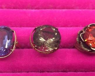 """14k """"Rings and Stones"""" Trio https://ctbids.com/#!/description/share/274701"""