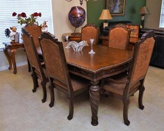 Fine dining table and chairs
