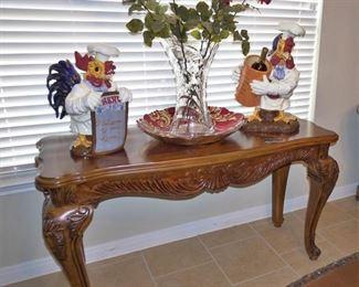 Sofa table with decor