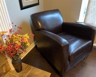 Faux Leather Arm Chair