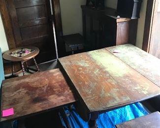 Antique tables a-plenty!