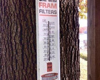 Vintage FRAM Filters thermometer