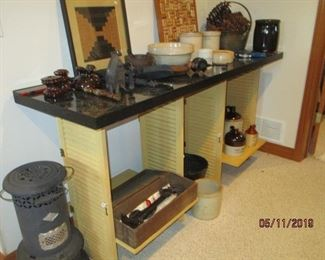 SHUTTERS MADE INTO TABLE