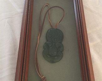 Hei Tiki jadeite stone Maori origin.