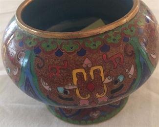 Lovely cloisonné urns