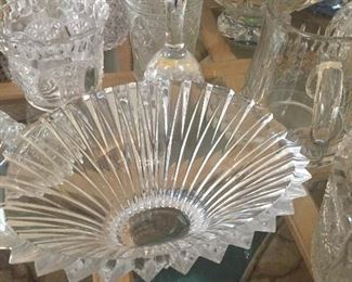 Lalique, Waterford, Fostoria Silvercrest, Fenton Hobnail, French Cris d Arques Durand, and other crystal selections