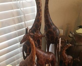Hand carved animals purchased throughout Africa in the 1960's