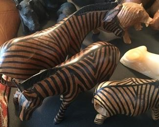 Hand carved African Savannah animals