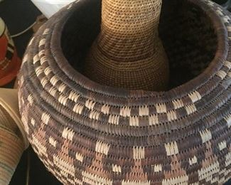 Tribal baskets woven in various areas of Africa.