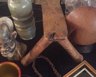 Hand hewed  stool from Zimbabwe