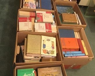 Hundreds of books. Vintage, Some.....Signed, First Editions, out of print. Great vintage children's books.