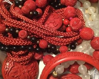 Cinnabar jewelry purchased in China