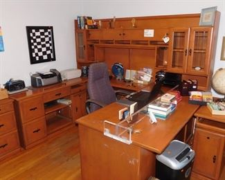 large office desk and storage