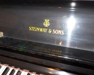 antique Steinway and Sons upright piano
